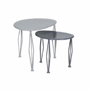 miss cot d co lot 2 tables basses anthracite gris. Black Bedroom Furniture Sets. Home Design Ideas
